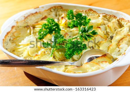 au gratin potatoes - stock photo