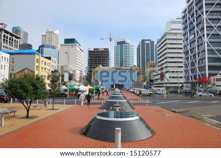 Auckland Britomart Transport Centre , New Zealand - stock photo