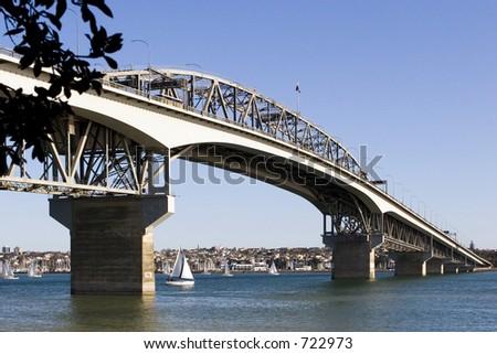 Auckland harbour Bridge - stock photo