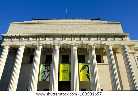 AUCKLAND, NEW ZEALAND - APRIL 7: Auckland War Memorial Museum on 7 April, 2012. The museum is the most popular visitor attraction in New Zealand's largest city (population 1.5 million) - stock photo