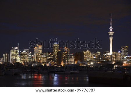 AUCKLAND, NEW ZEALAND - APRIL 10: The New Zealand city of Auckland is famous for producing many of the world's top international yachting crews, April 10, 2012 in Auckland, New Zealand. - stock photo