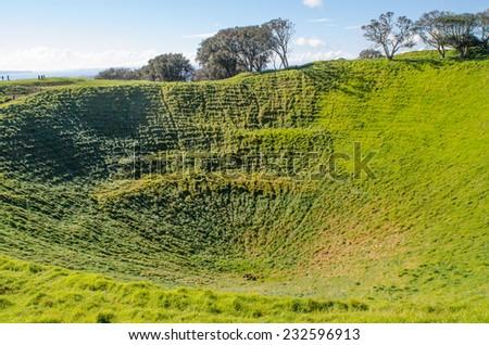 Auckland's Mount Eden - stock photo