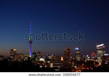 Auckland Skyline - stock photo