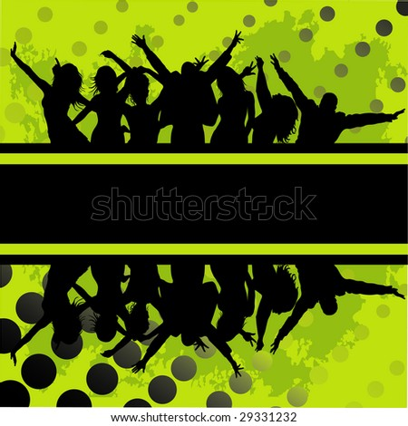 audience cheering success; background - stock photo