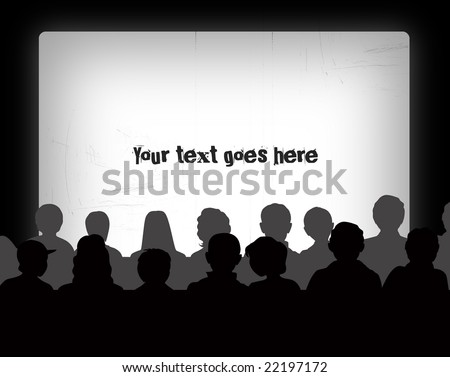 Audience silhouettes - stock photo