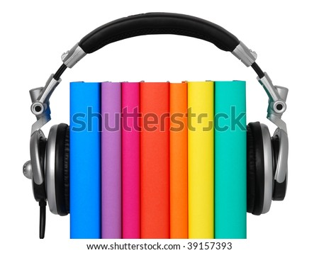 Audio book - stock photo