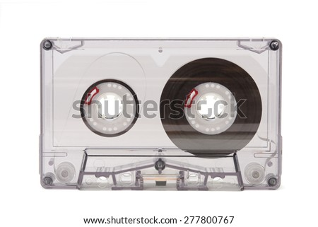 audio cassettes isolated on white background - stock photo