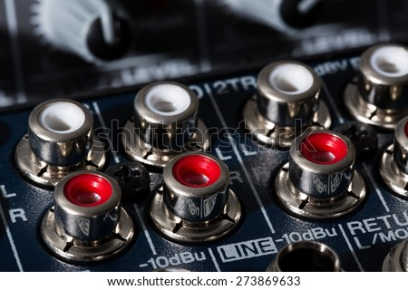 Audio Equipment, Stereo, Sound Mixer. - stock photo