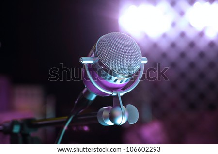 audio microphone - stock photo