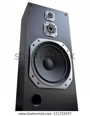 Audio speaker on white background - stock photo