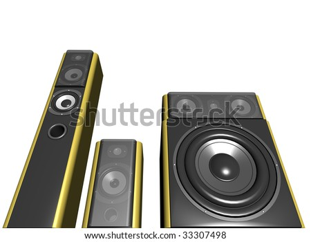 audio system - stock photo