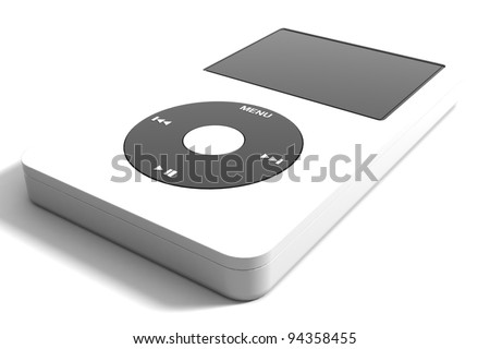Audio system on a white background - stock photo