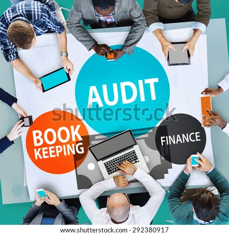 Audit Bookkeeping Finance Money Report Concept - stock photo