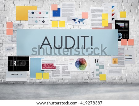 Audit Evaluation Examine Assessment Accounting Concept - stock photo