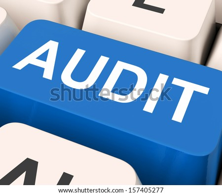 Audit Key Showing Auditor Validation Or Inspection  - stock photo