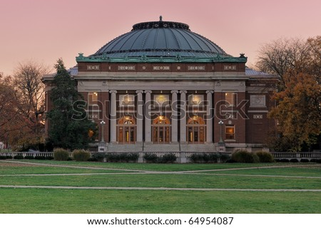 Auditorium at the University of Illinois at Urbana-Champaign - stock photo