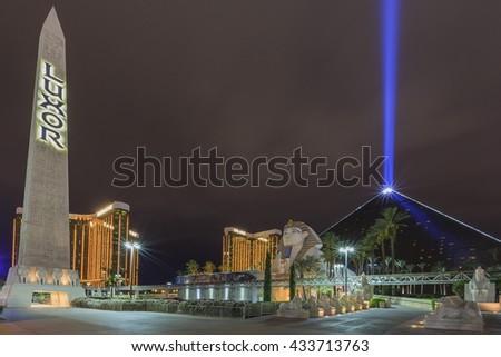 AUG 5, Las Vegas: The famous Luxor Hotel & Casino on AUG 5, 2015 at Las Vegas, Nevada - stock photo