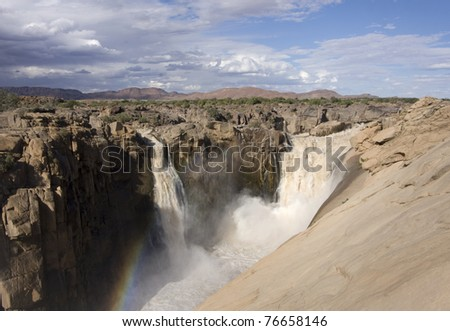 Augrabies waterfall, South Africa - stock photo