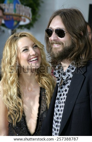 "August 2, 2005. Kate Hudson and husband Chris Robinson attend at the ""The Skeleton Key"" Los Angeles Premiere at the Universal Studios Cinema in Hollywood, California .  - stock photo"