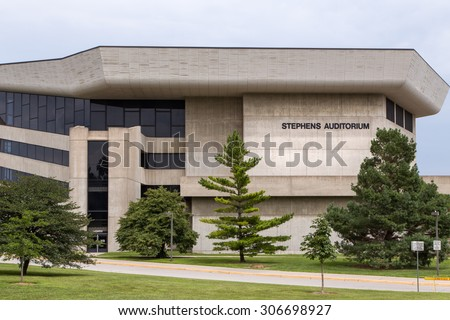 AUGUST 6, 2015: Stephens Auditorium on the campus of the University of Iowa State. - stock photo