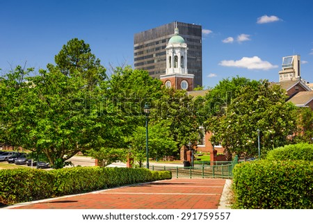 Augusta, Georgia, USA downtown scene at River Walk. - stock photo