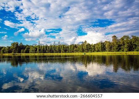 Aukstaitija National Park of Lithuania - stock photo