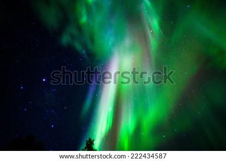 Aurora borealis - stock photo