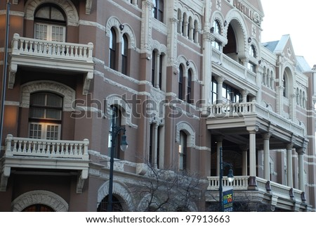 AUSTIN, TEXAS - MAR 9: SXSW 2012 on March 9, 2012 in Austin, Texas. Driskill Hotel on sixth street. - stock photo