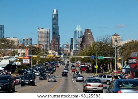 AUSTIN, TX - MAR 12: SXSW Interactive Conference on March 12, 2012 in Austin. - stock photo