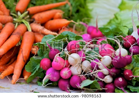 Austin, TX - March 10: SXSW Interactive Conference in Austin. Farmers Market in Downtown Austin. - stock photo