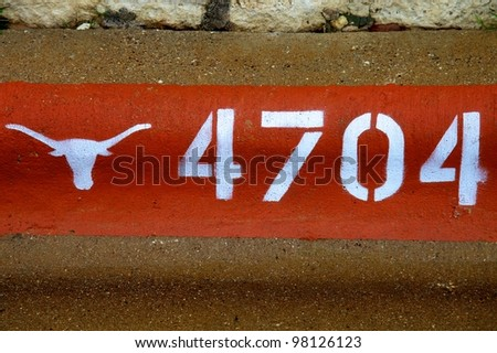 Austin, TX - March 11: SXSW Interactive Conference in Austin. UT Sign. - stock photo