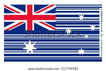 Australia barcode flag - stock photo