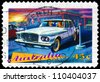 AUSTRALIA - CIRCA 1997: A Stamp printed in Australia shows the Chrysler Valiant R series, 1962, Classic cars series, circa 1997 - stock photo