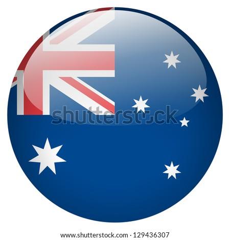 Australia flag button - stock photo