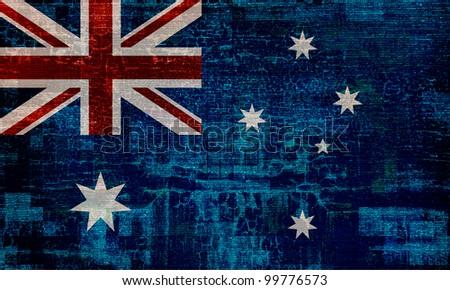 Australia grunge flag background - stock photo