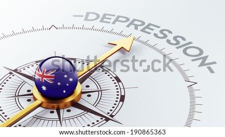 Australia High Resolution Depression Concept - stock photo