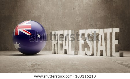 Australia High Resolution Real Estate Concept - stock photo