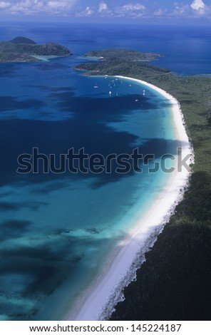 Australia Queensland White haven beach - stock photo