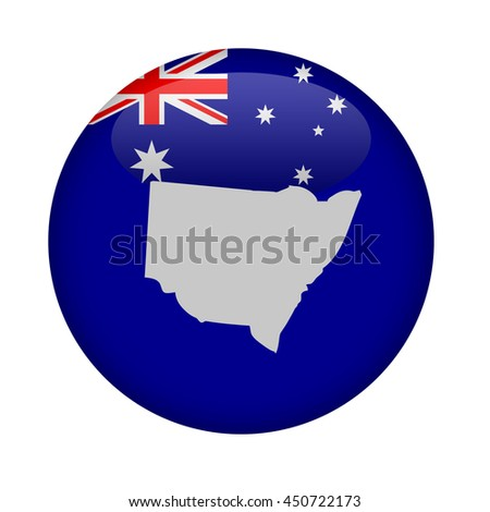 Australia state of New South Wales button on a white background. - stock photo