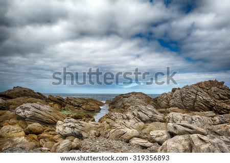 australia west coast huge panorama  - stock photo