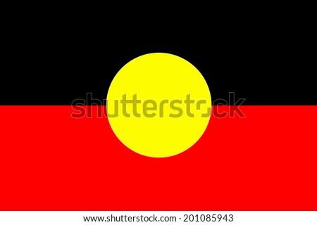 Australian Aboriginal Flag - stock photo