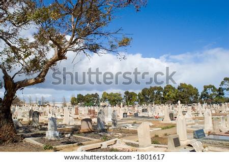 Australian Cemetery - stock photo