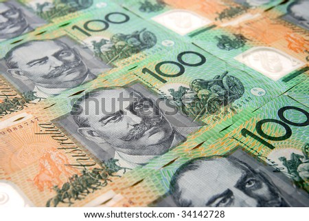 Australian Currency Close-up - stock photo