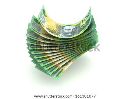 Australian Currency (isolated with clipping path) - stock photo