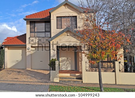 Australian family house - stock photo