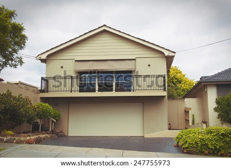 Australian house. old vintage look - stock photo