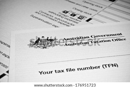 Australian Individual tax return form - stock photo