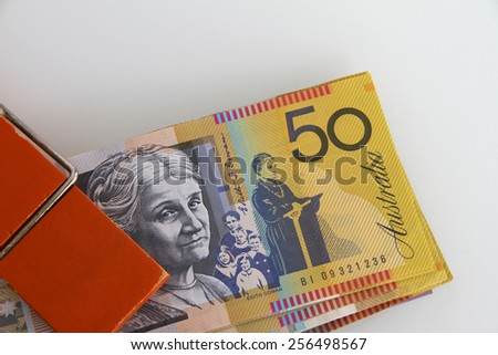 Australian Money on a Clip - stock photo