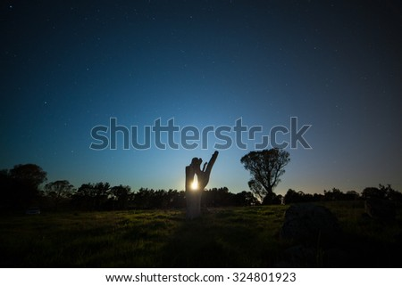 Australian night sky - stock photo