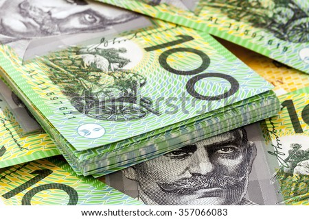 Australian one hundred dollar bills.   - stock photo